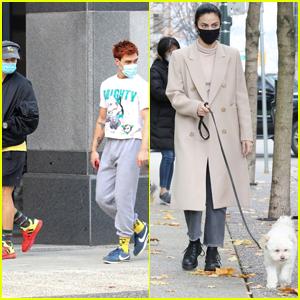 Charles Melton, KJ Apa & Camila Mendes Take a Break From Filming 'Riverdale'