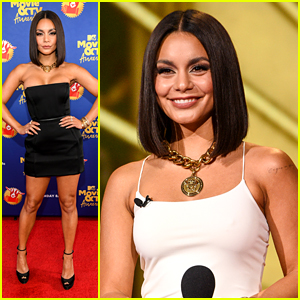 Vanessa Hudgens Stuns in Black Mini Dress For MTV's Greatest of All Time Special Event