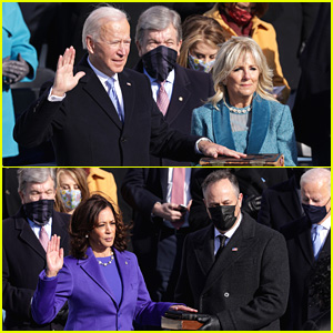 Celebs React To Joe Biden & Kamala Harris Being Sworn In As President & Vice President