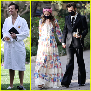 Harry Styles Holds Hands With Olivia Wilde While Attending Manager's Wedding (60+ Photos)