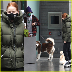 Madelaine Petsch & Charles Melton Cross Paths While Walking Their Dogs Over the Weekend!