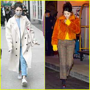 Selena Gomez Films Night Scenes For Her Hulu Show 'Only Murders In The Building'