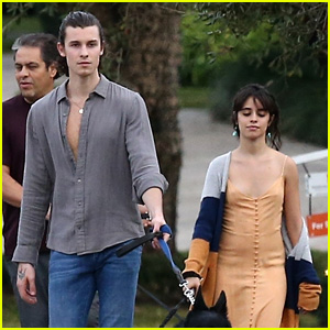 Shawn Mendes Joins Camila Cabello & Her Parents for a Walk in Florida