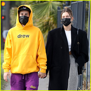 Justin & Hailey Bieber Hold Hands on Saturday Morning Stroll