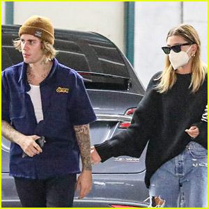 Justin & Hailey Bieber Kick Off Their Week with Errands Run