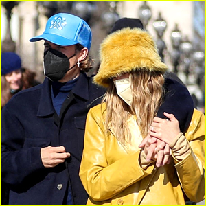Hailey & Justin Bieber Hold Hands While Out In Paris