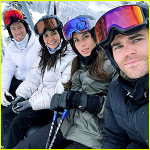 The Vampire Diaries' Nina Dobrev & Paul Wesley Go Snowboarding with Their Partners!