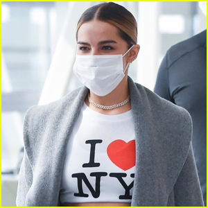 Addison Rae Rocks an 'I Love NY' Crop at the Airport