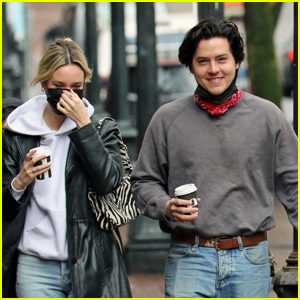 Cole Sprouse Enjoys a Morning Coffee Stroll With Reported New GF Ari Fournier