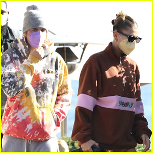 Justin & Hailey Bieber Grab A Light Lunch at Nobu