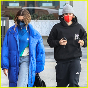 Justin Bieber & Wife Hailey Head Out To Lunch After His Big KCAs Performance