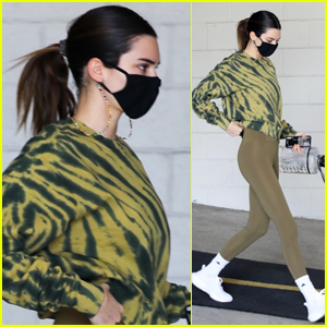 Kendall Jenner Heads to Her Workout in Cute Tie-Dyed Outfit