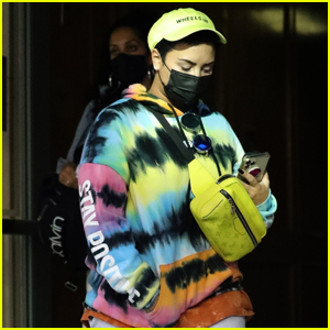 Demi Lovato Sports a Colorful & Cozy Outfit During Her Afternoon Outing