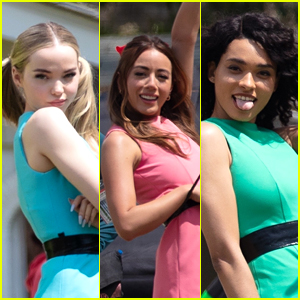 Dove Cameron, Chloe Bennet & Yana Perrault Get Into Character In First 'Powerpuff' Pics!