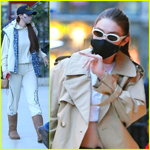 Gigi Hadid Goes For Comfort Following a Photo Shoot in NYC