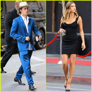 Justin Bieber Rocks Blue Suit for Friend's Wedding with Wife Hailey