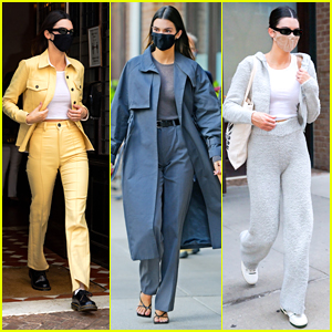 Kendall Jenner Shows Off Her Spring Style In NYC With Multiple Outfits!