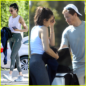 Nina Dobrev Steps Out For A Workout With Shaun White
