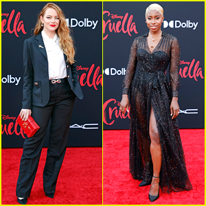 Emma Stone & Kirby Howell-Baptiste Premiere Their New Movie 'Cruella'