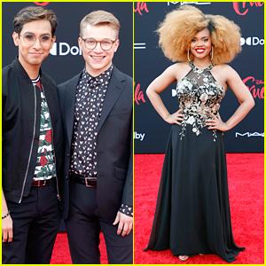 'HSMTMTS' Stars Frankie A Rodriguez & Joe Serafini Couple Up at 'Cruella' Premiere!