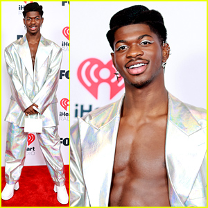 Lil Nas X Puts Abs On Display in Iridescent Suit at iHeartRadio Music Awards 2021