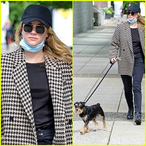 Lili Reinhart Takes Pup Milo For a Walk As 'Riverdale' Wraps Filming Season 5