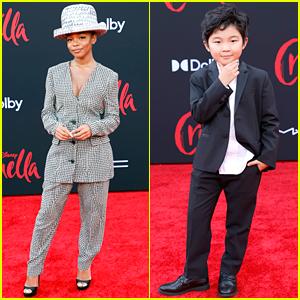 Marsai Martin & Alan Kim Suit Up at 'Cruella' Premiere