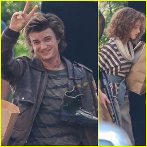 Joe Keery, Natalia Dyer & More Are Ready to Fight on the Set of 'Stranger Things' Season 4!