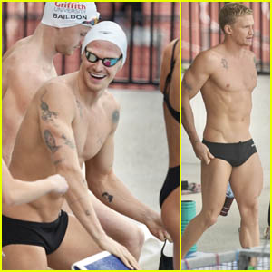 Cody Simpson Shows Off His Impressive Body During Training for the Australian Olympic Swimming Trials