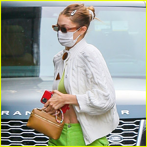 Gigi Hadid Wears Chic Green Outfit for Her Vaccine Appointment