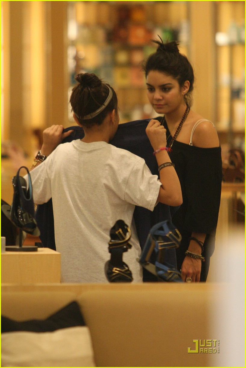 vanessa hudgens shoe shopping barneys 07