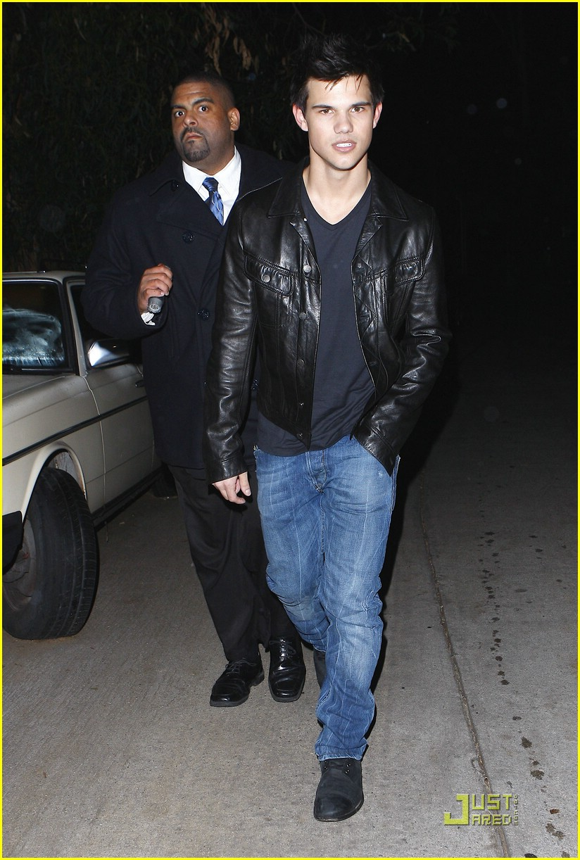 taylor lautner post grammy party 01