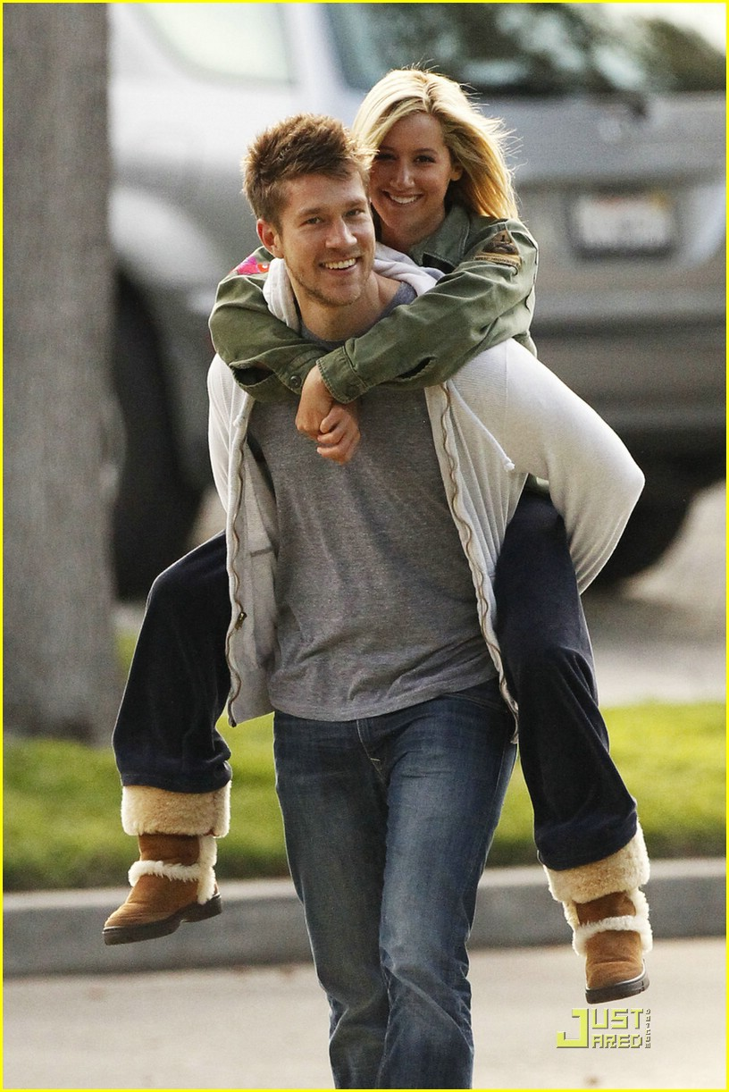 ashley tisdale scott speer piggyback 09