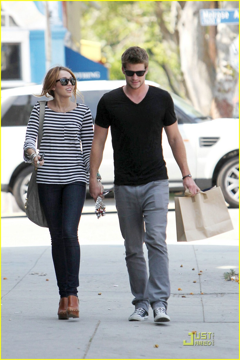 miley cyrus liam hemsworth melrose 10