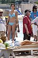 Selena-bikini selena gomez blue bikini beach 15