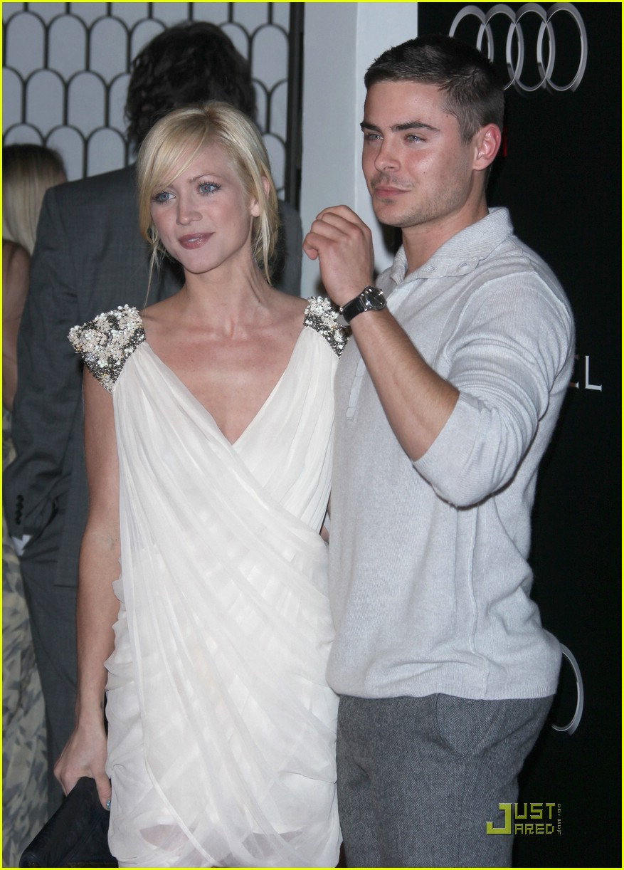 zac efron brittany snow audi party 03