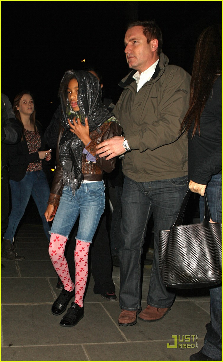 willow smith justin bieber london dinner 04