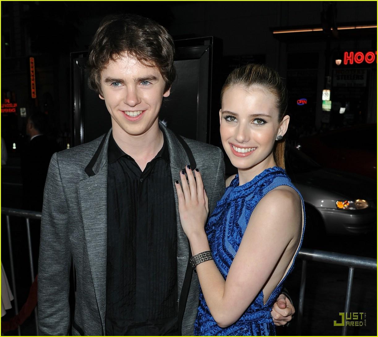 Freddie Highmore 'Screams' for Emma Roberts | Photo 412818 ...