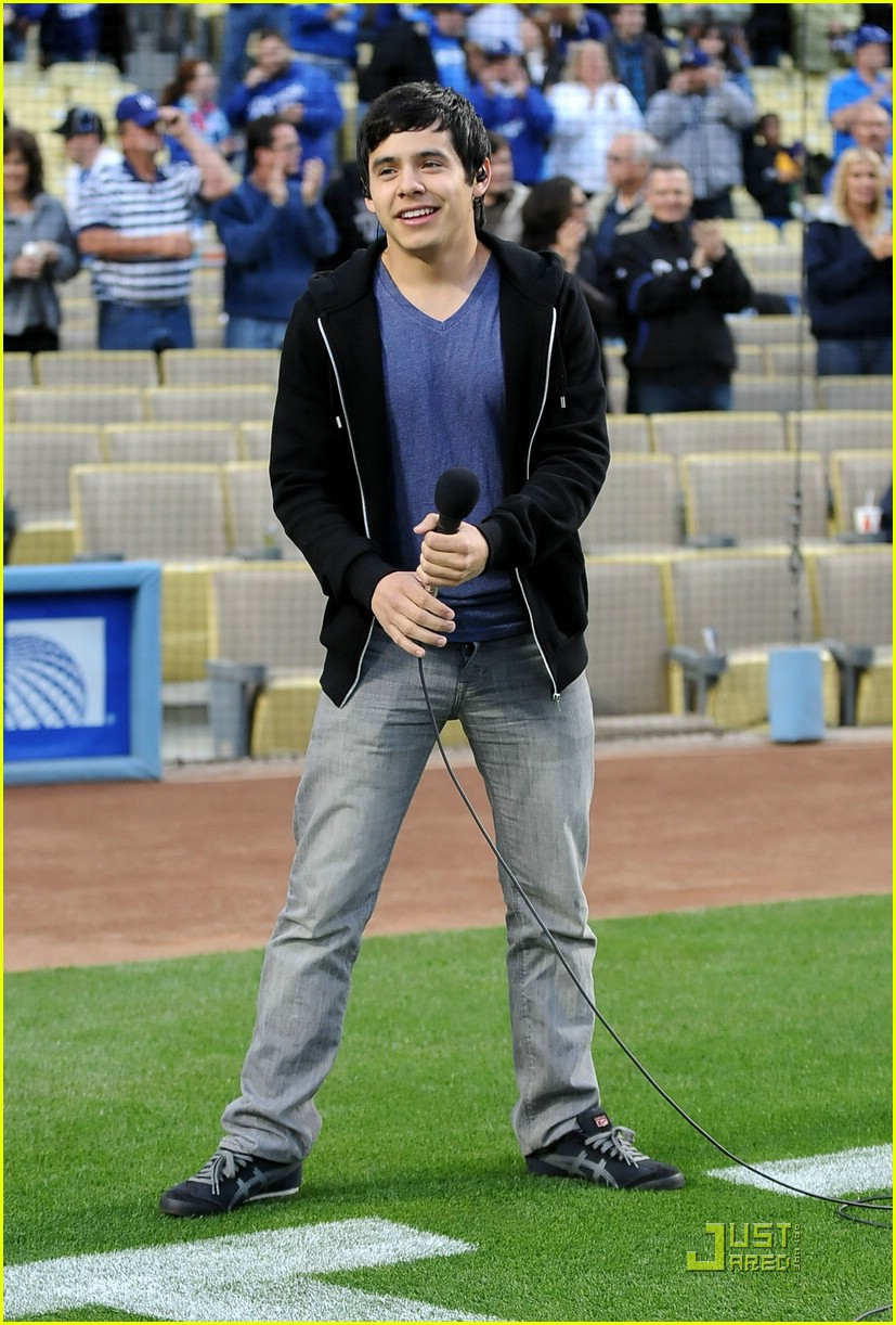 david archuleta dodgers game 02