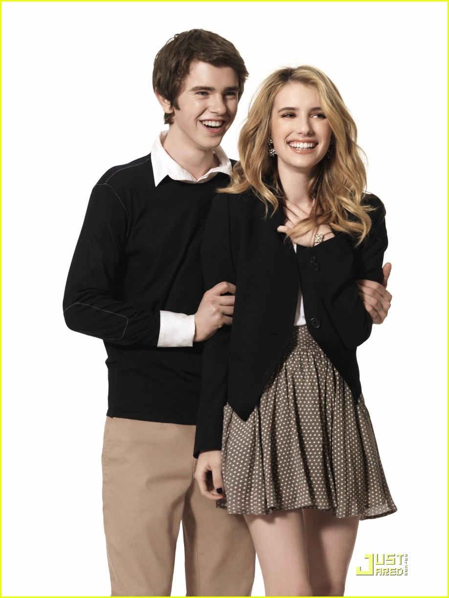 emma roberts freddie highmore shoot 07