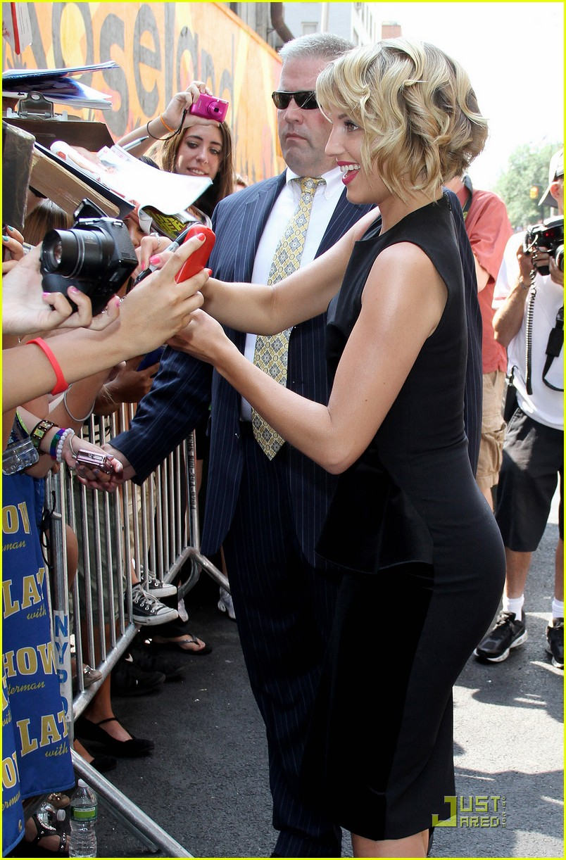 dianna agron letterman 12