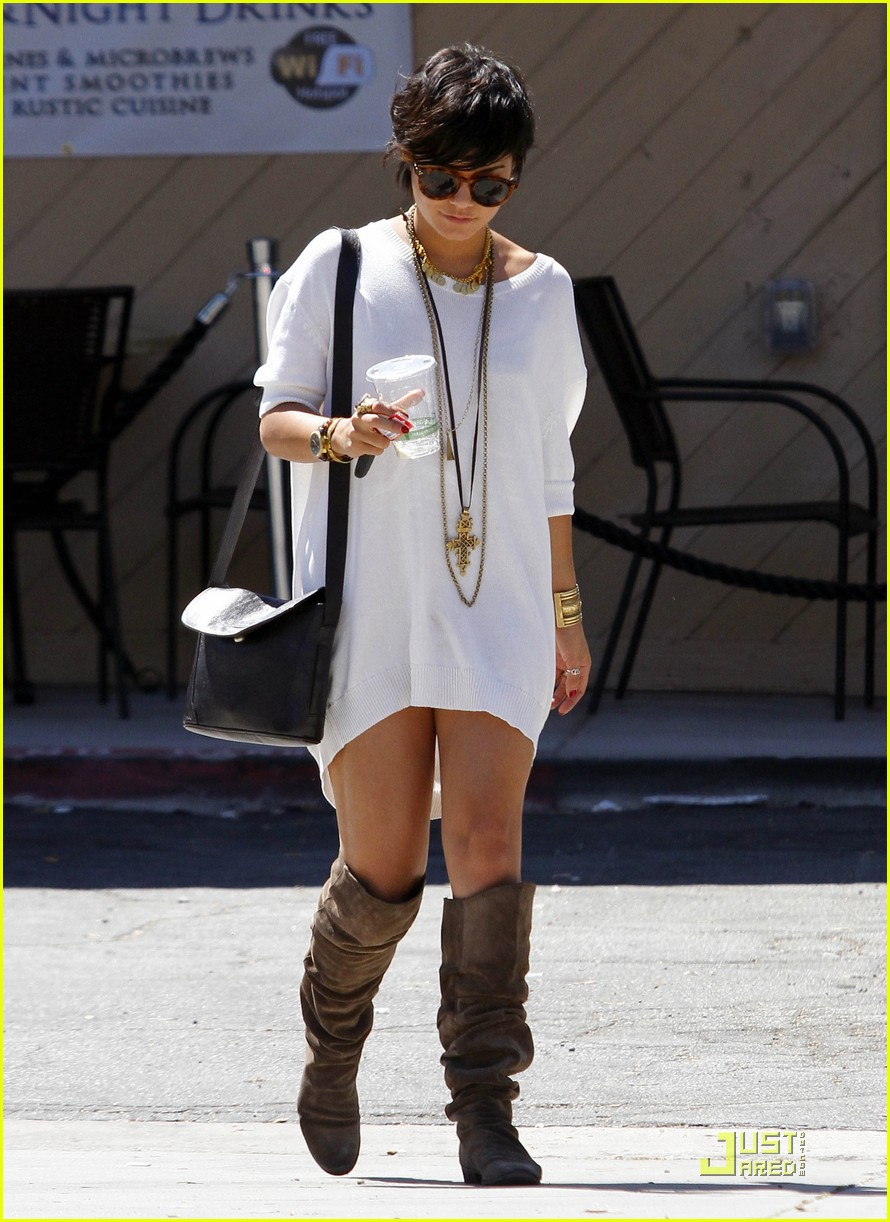 vanessa hudgens shirt dress 02