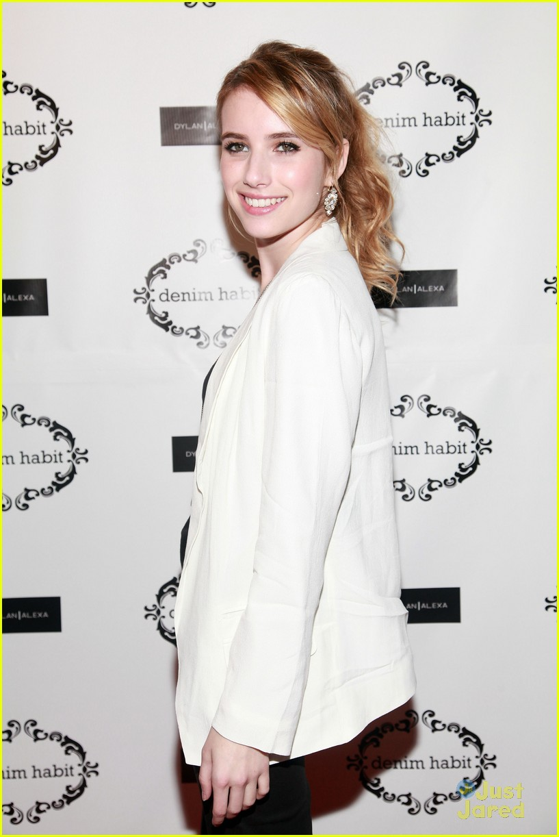 emma roberts denim event 07