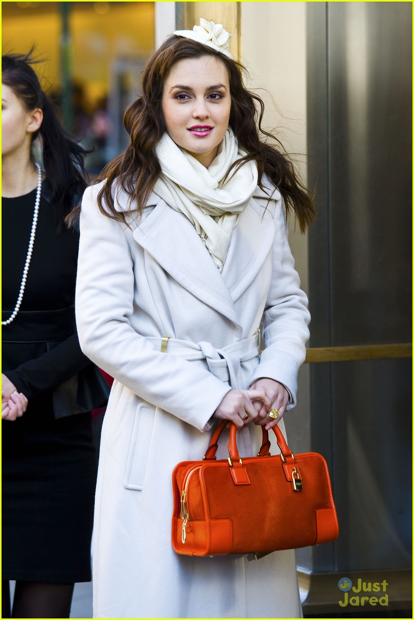 leighton meester wool coat 04