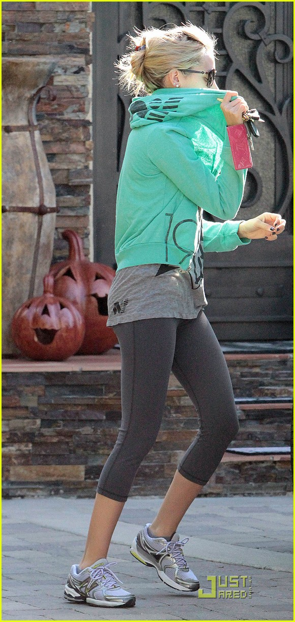 ashley tisdale green hoodie 07
