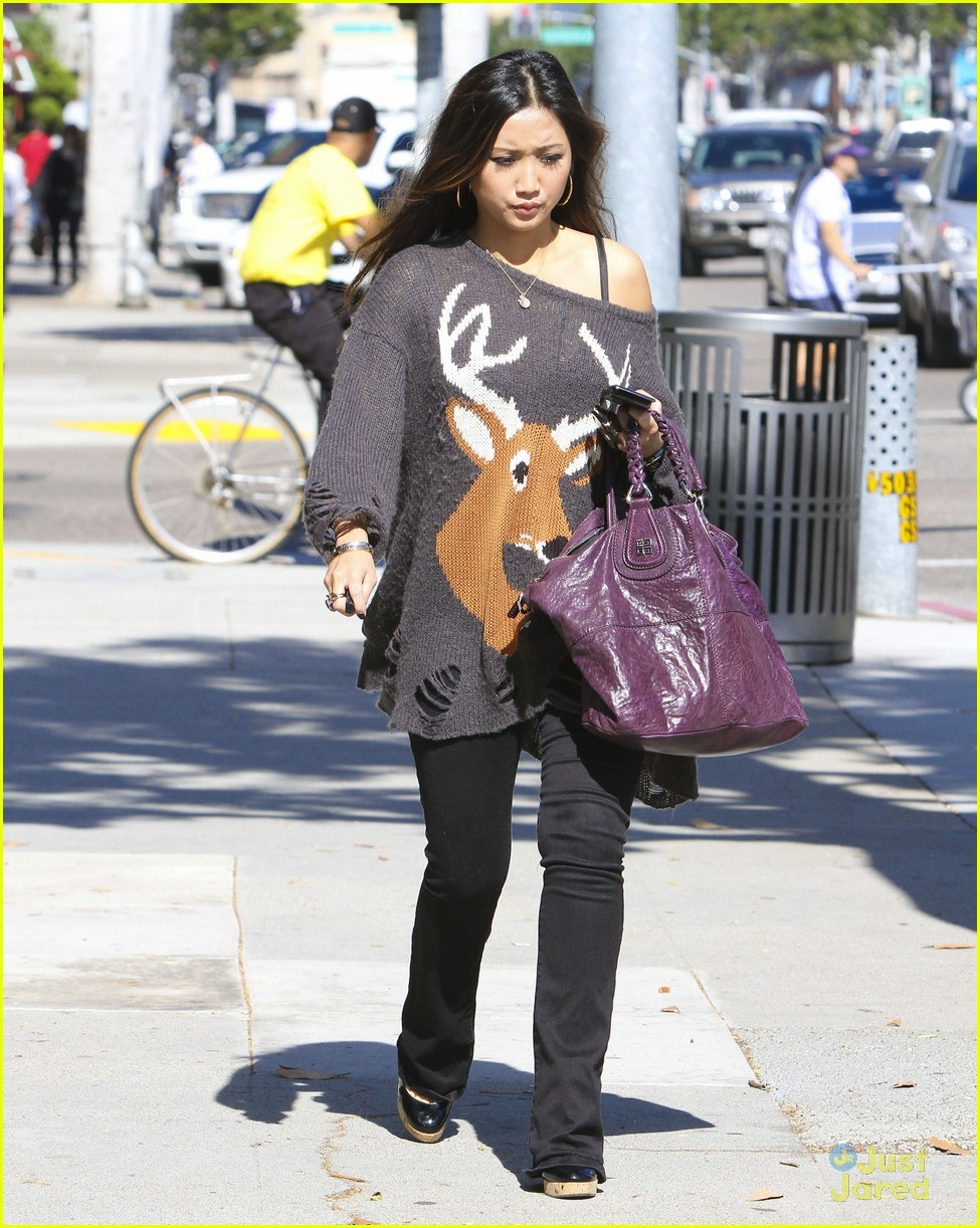 brenda song deer sweater 06