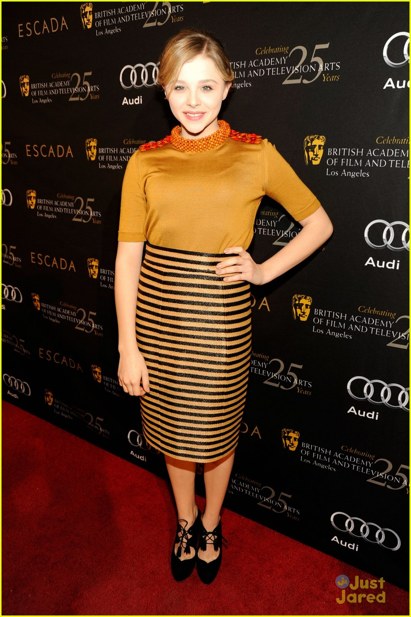 chloe moretz asa butterfield bafta tea 01