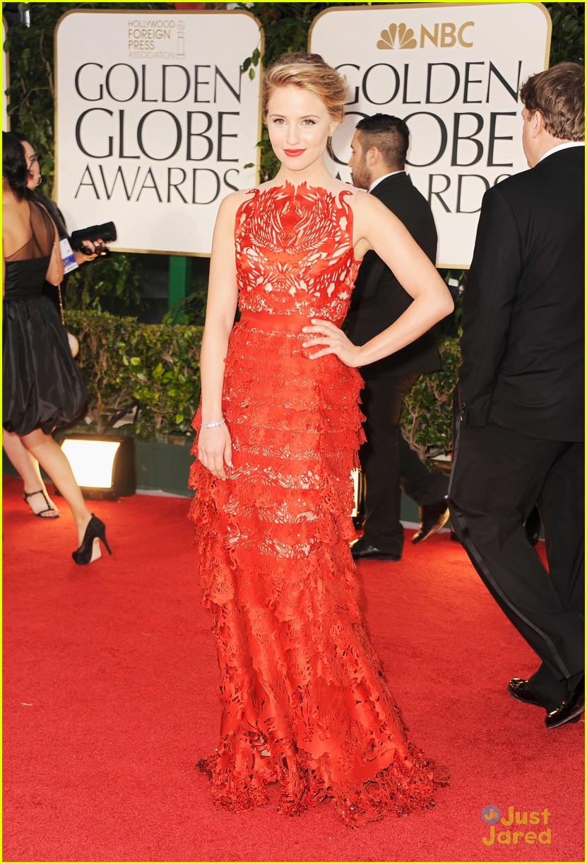 dianna agron golden globes 09