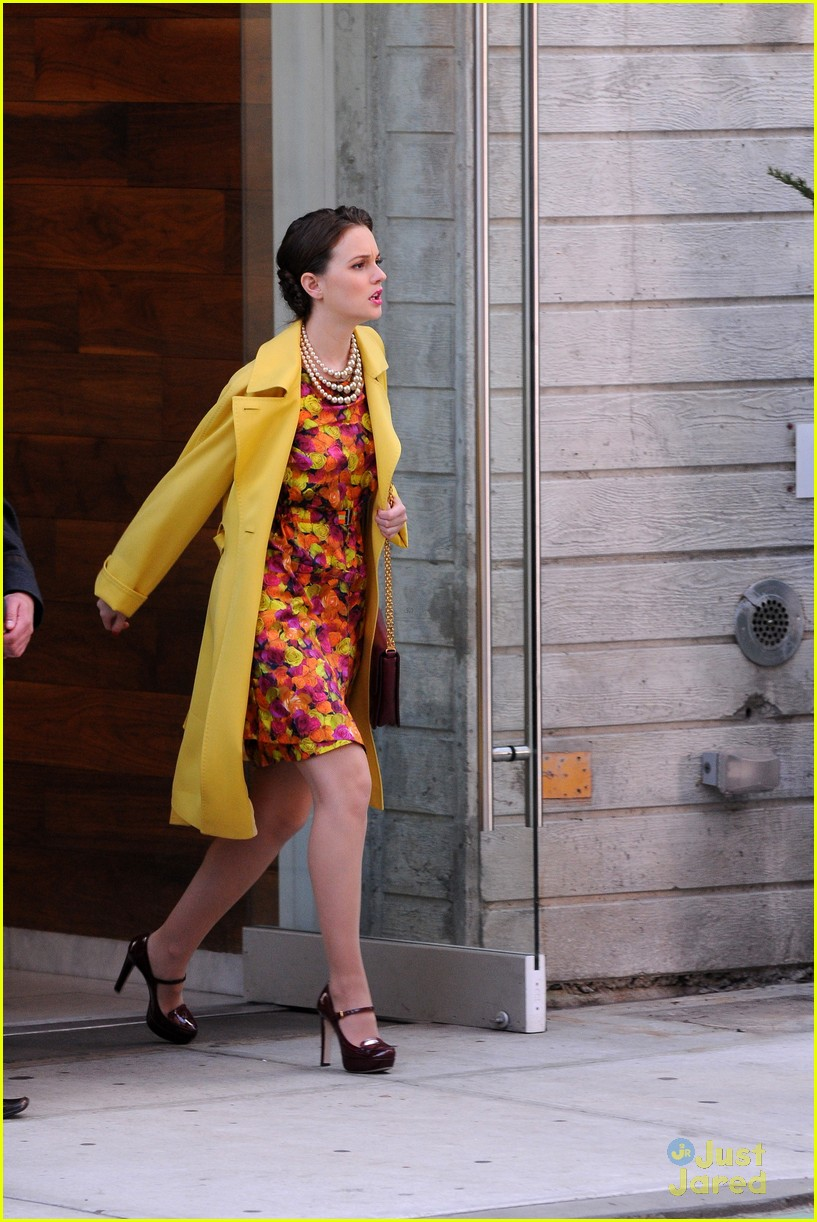 leighton meester floral dress gg 04