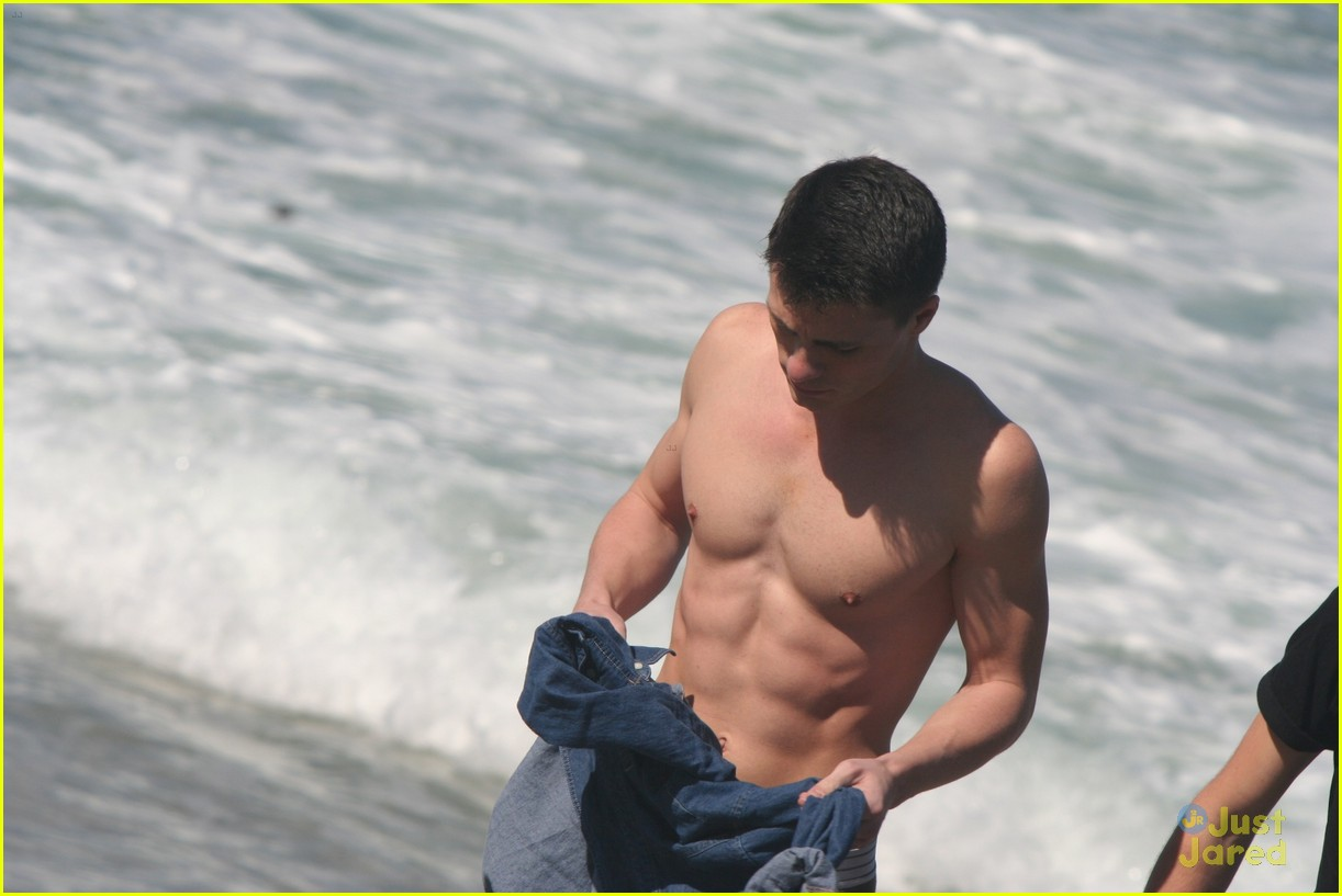 colton haynes beach day 12
